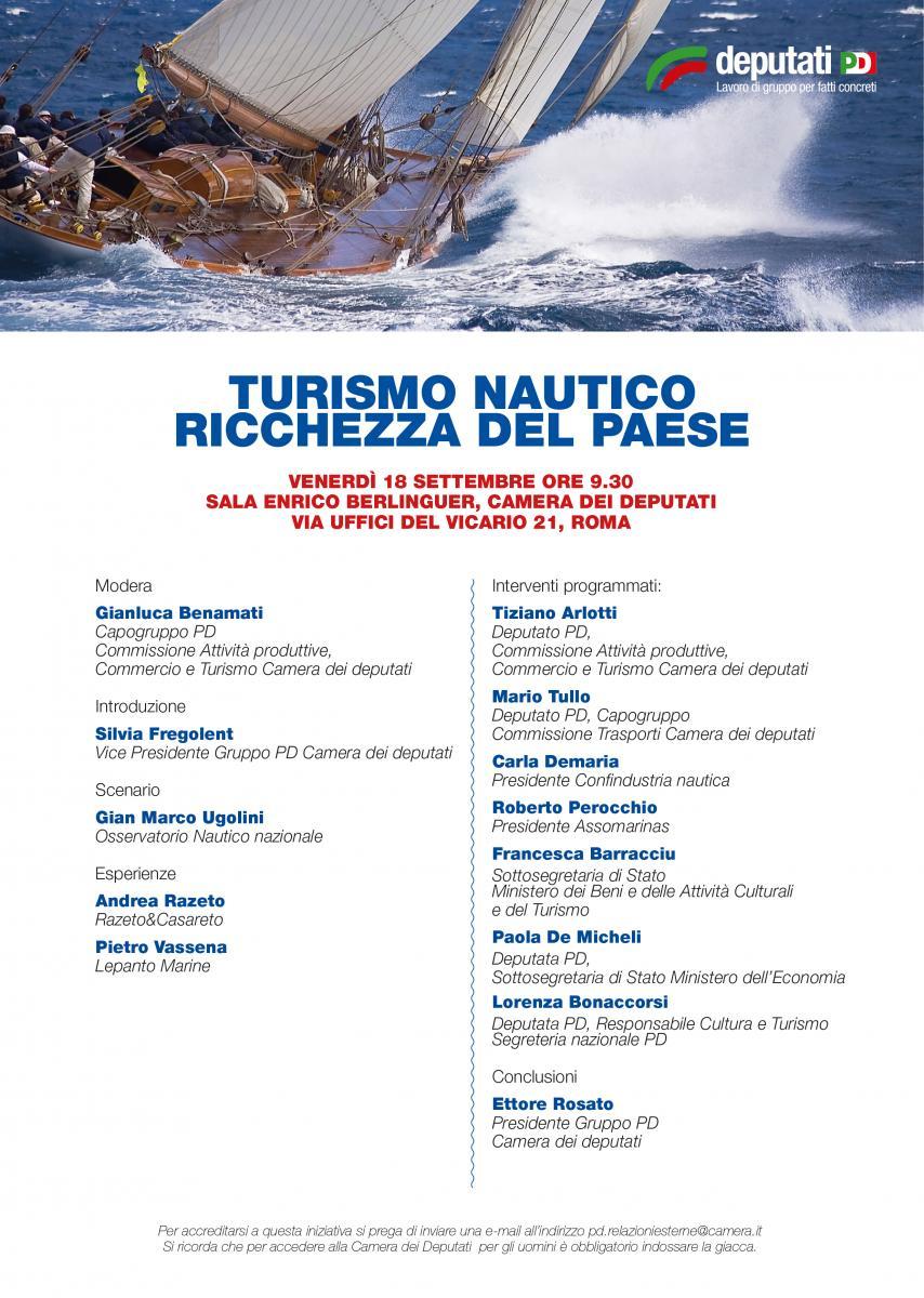 Turismo nautico ricchezza del paese gruppo pd camera for Calendario camera deputati