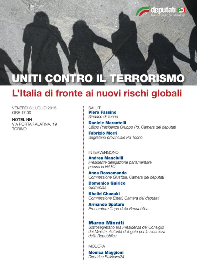 Uniti contro il terrorismo gruppo pd camera dei for Calendario camera deputati